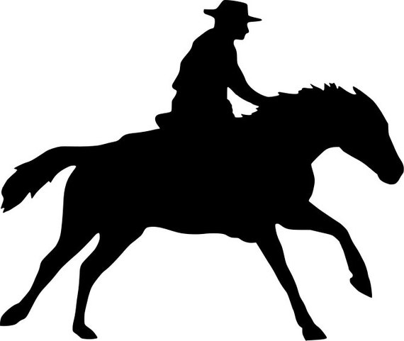 Western Horse And Cowboy Svg And Png Digital Download Horse Etsy
