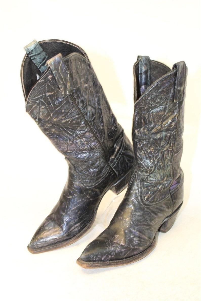 144a2eb030d Tony Lama Vintage Womens Boots, Western Cowboy Boots, Vintage Western  Boots, 6M Ladies Boho Boots, Cowgirl Boots, Western Leather Boots