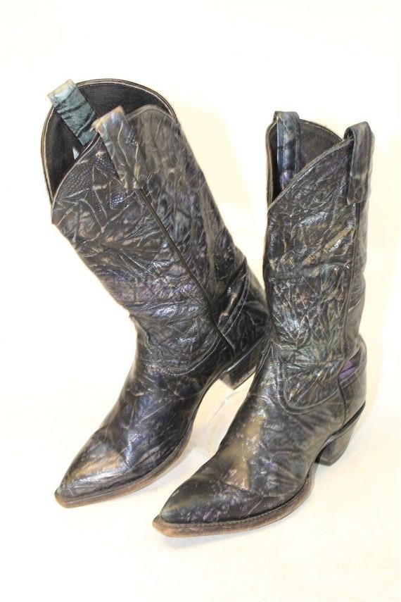 Tony Lama Vintage Womens Boots, Western Cowboy Boo