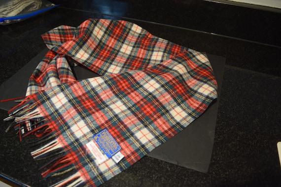Vintage Pendleton Stewart Dress Tartan Scarf / Mu… - image 4