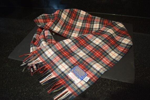 Vintage Pendleton Stewart Dress Tartan Scarf / Mu… - image 5