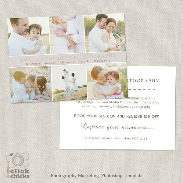 4x6 Promo Card Photography Marketing Template Flyer Postcard Etsy
