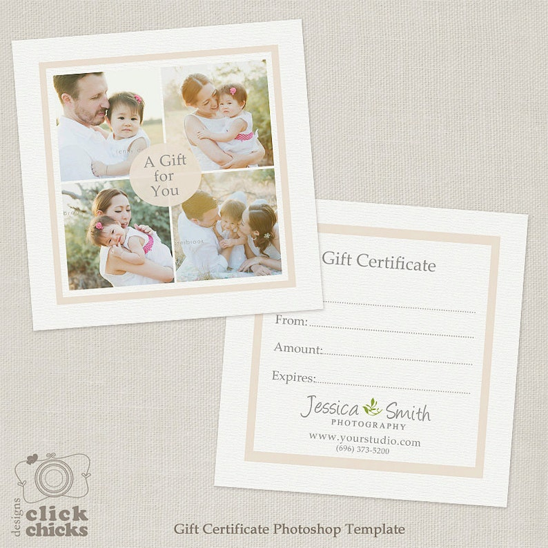 Photography Gift Certificate Template 005 C138 Instant Etsy