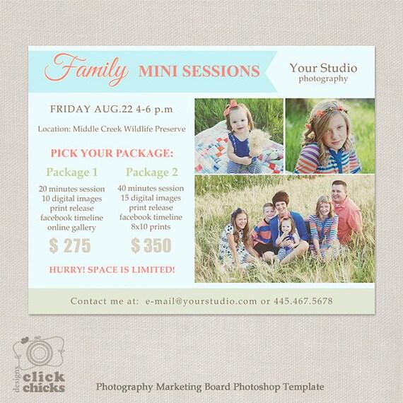 Sesión Mini familia plantilla fotografía Marketing Board 064