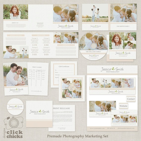 Premade Photography Marketing Templates Set With Logo Print Etsy