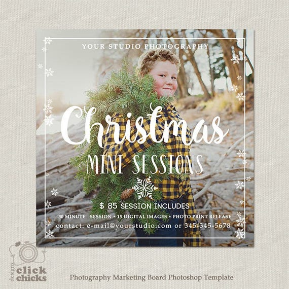 christmas mini session template holiday photography etsy