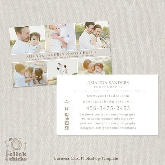 Fotografie Visitenkarte Vorlage Für Fotografen 004 C240 Instant Download