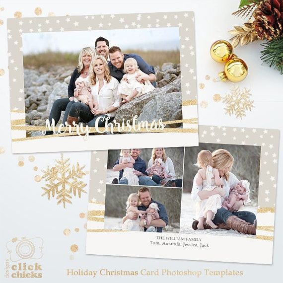 Christmas Card Template For Photographers And Personal Use Etsy