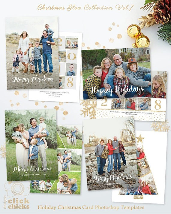 Save 45 Bundle Christmas Card Templates For Photographers Etsy