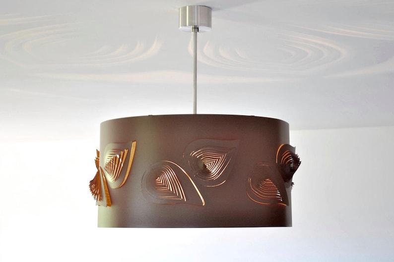 Unique Lamp BIG LEAVES BRONZE