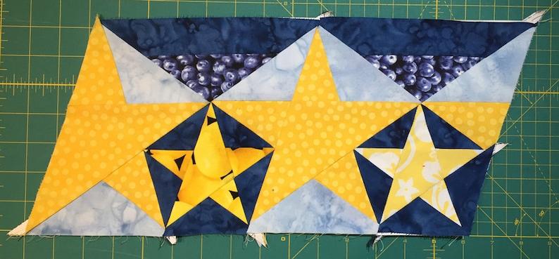 Star Spangled Quilt Border Pattern
