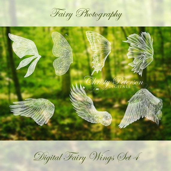 7 Fairy Wings Photoshop BRUSHES SET 4 Feathered Or Angel Etsy