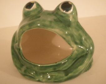 BIG MOUTH FROG Soap Dish, Scrunchy Holder, Kitchen, Mothers Day Gift House  Warming Gifts For Her Frog Decor Green Frog Kitchen Decor Home
