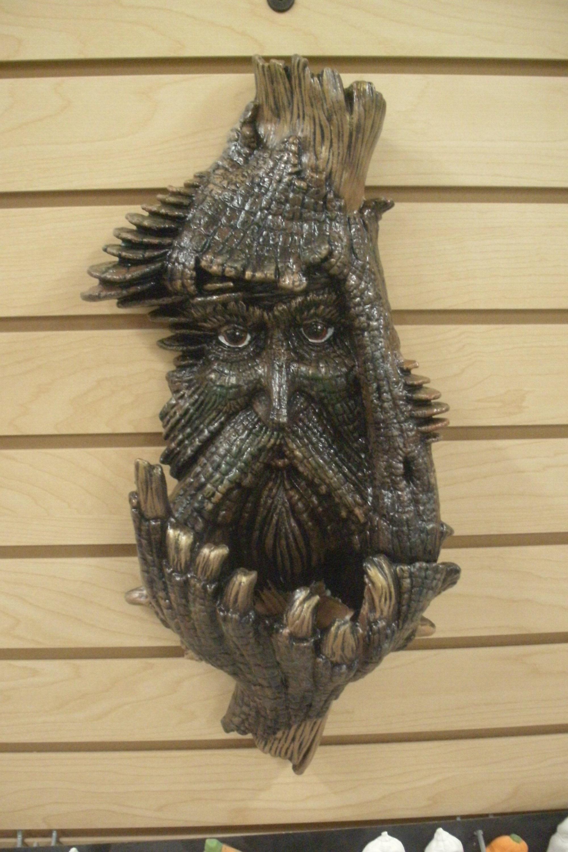 Fabulous Green Man Bird Feeder Tree Plaque Garden Ornament