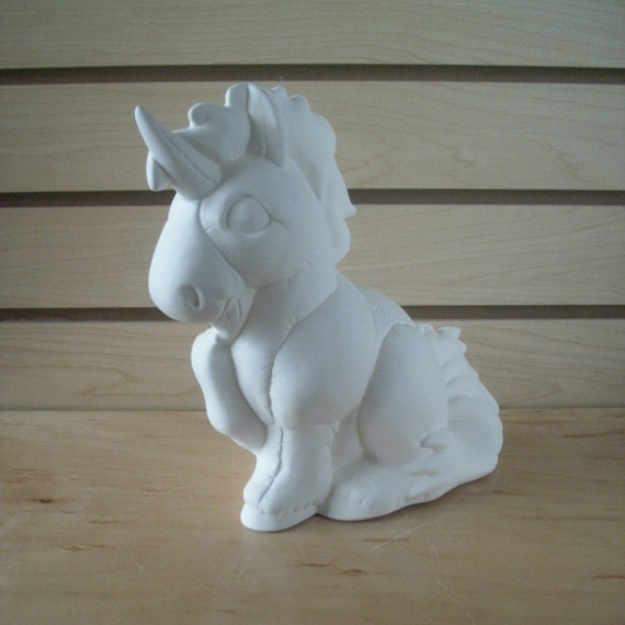 Image result for ceramic unicorn painting