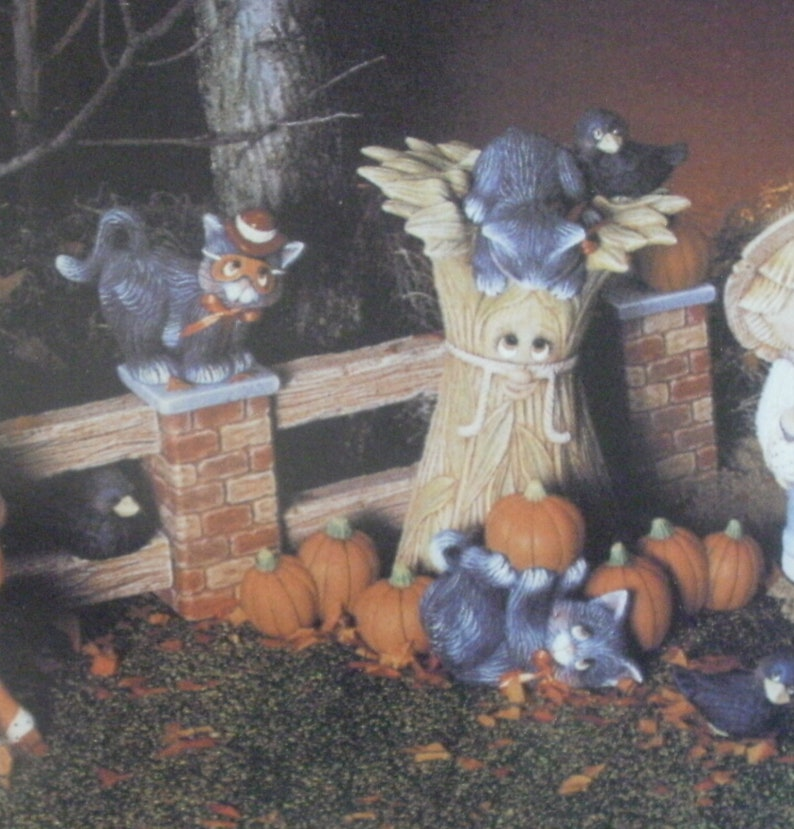Ceramic bisque Kittens Ready to paint Halloween ceramic kittens Dona's 911  THREE ceramic CATS ready to paint MADE to order Halloween bisque