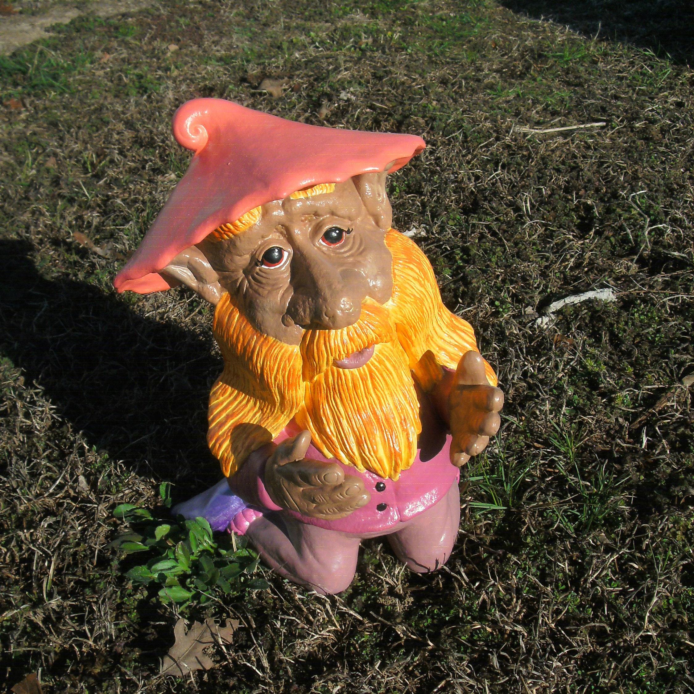 Outdoor ready ceramic garden gnome Praying Outdoor garden gnome digging planting Kneeling ts for her ceramic gnome troll decor cute