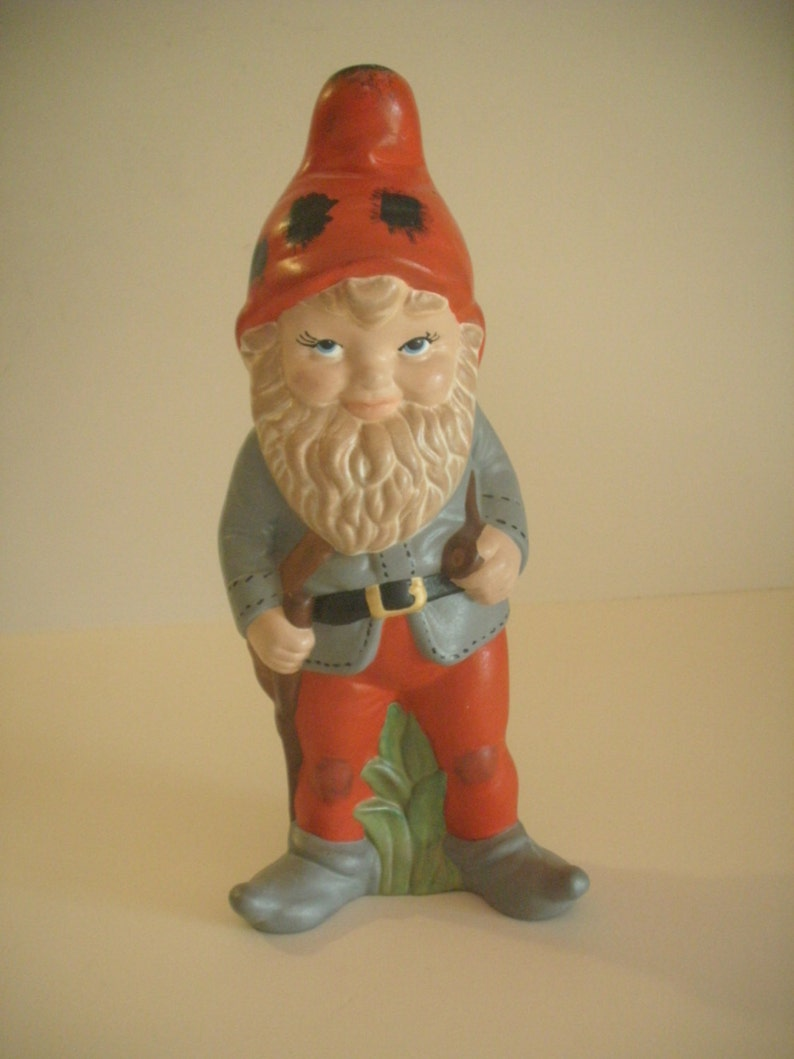 En céramique Gnome debout nain de jardin décor 12\