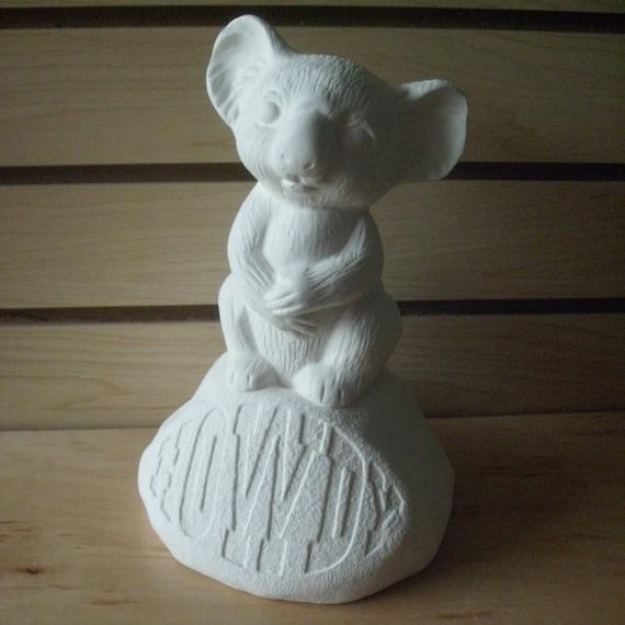 Standing Koala Bear Garden Statue Unpainted Ceramic Bisque DIY | Etsy
