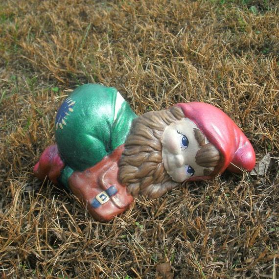 Nain de jardin en plein air sur ventre nain de jardin décor | Etsy