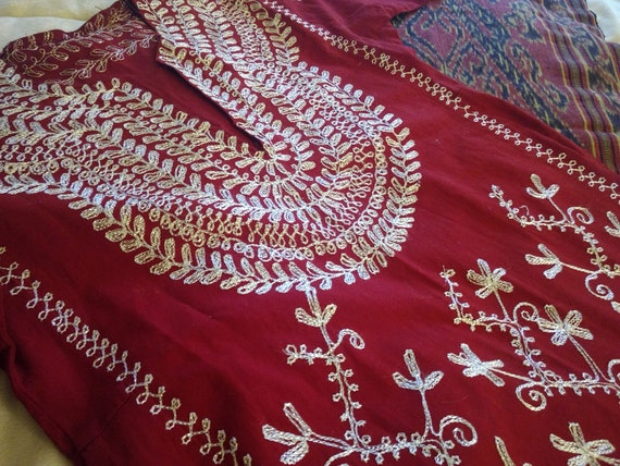 FLASH SALE!, Indian or Moroccan Dress, Embroidered