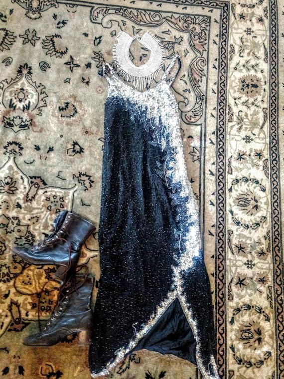 Vintage Flapper Beaded 20's Dress, Fabulous,