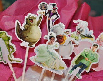 Princess and the Frog Cupcake Toppers Set of 12