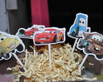 Cars Cupcake Toppers Set of 12