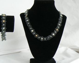 Elegant Swarovski Pearl Set UzunovJewelryDesigns