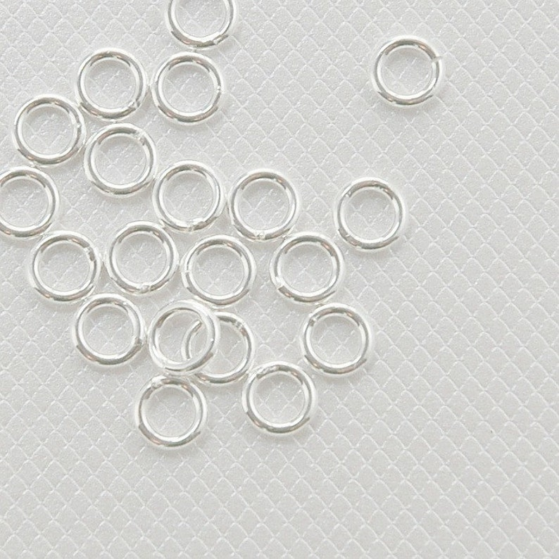 2 to 6mm Jump Rings Pack of 10-1.0mm .925 Sterling Silver Wire