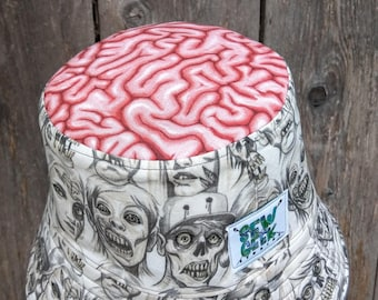 The Carmen Bucket Hat Gray Zombie Brains 24bb57cf83d2