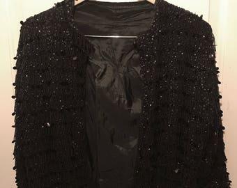 5c2eac6de8 Vintage Wool Hand Beaded Sweater Lined 1960 s Amazing