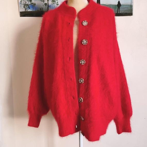 Vintage Angora Lambswool Bellini Sweater Cardigan
