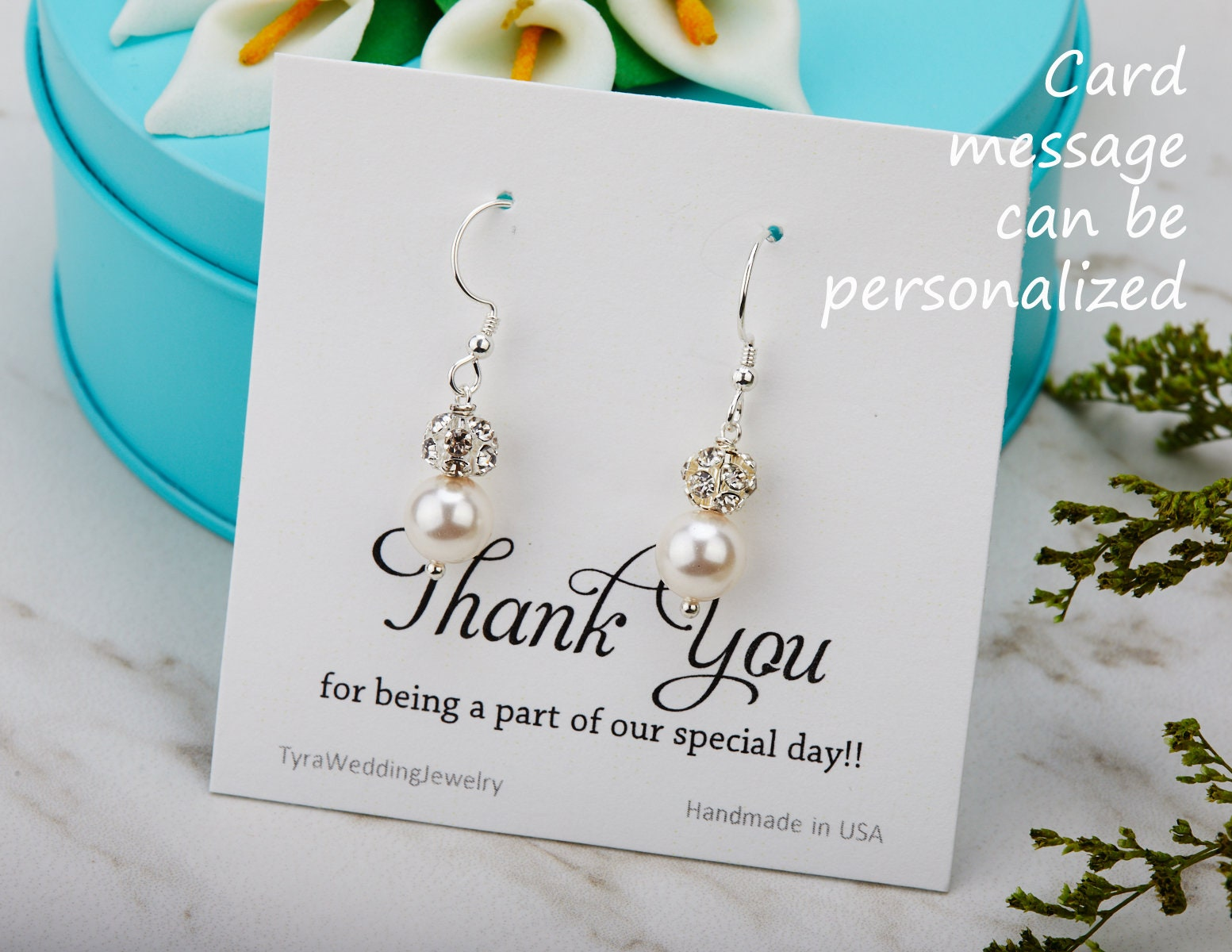 bridal earrings E2081G boho earrings elegant Serenity Pearl earrings Silver wedding earrings silver gold earrings two tone earrings