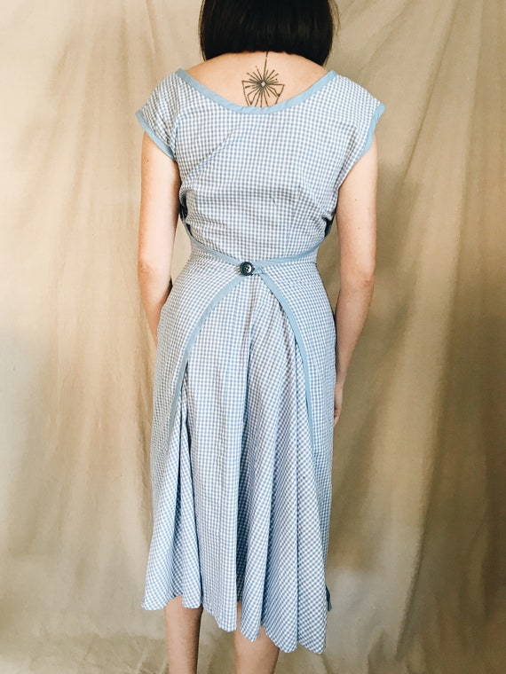 Dorothy blue gingham apron dress
