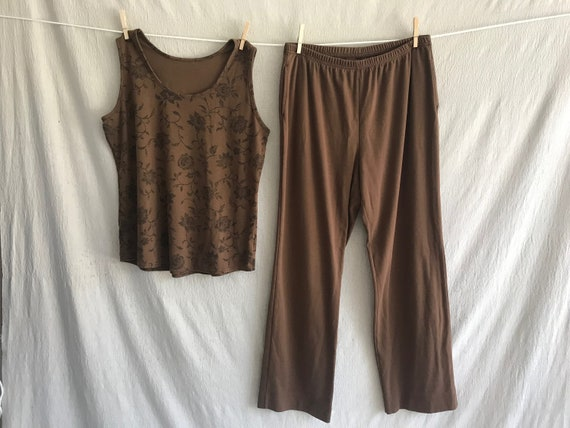 CACAO - brown jersey lounge set