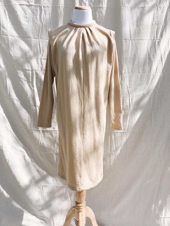 Almond woolen midi dress