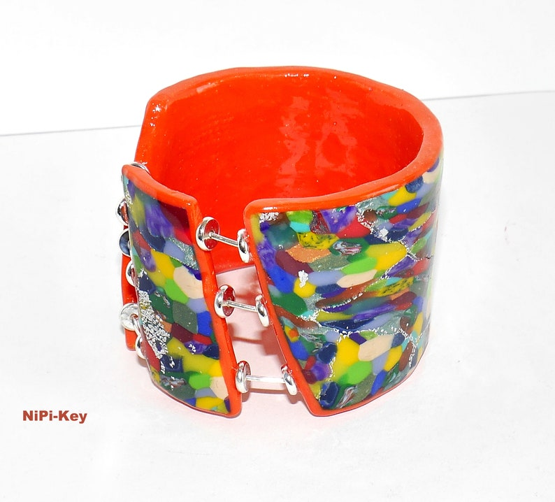 ManEGEFREITOO bangle made of polymer clay polymer clay polymer