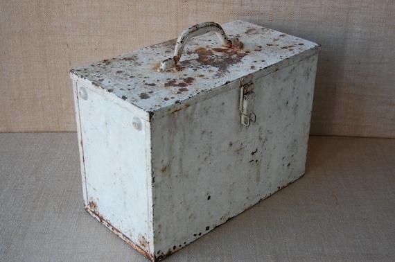 Vintage Industrial Metal Storage Box Craft Storage Art | Etsy