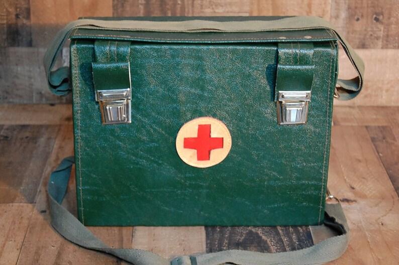 SecourismeMédecins Sac MédecinsAnnées Champ Premiers Rouge De VintageMilitaire 1960État Croix SacD'urgence Secours rtsdQCxh