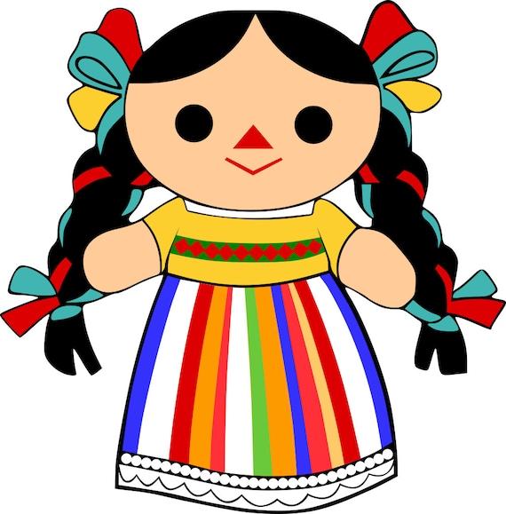 Mexican Maria Rag Doll Svg File