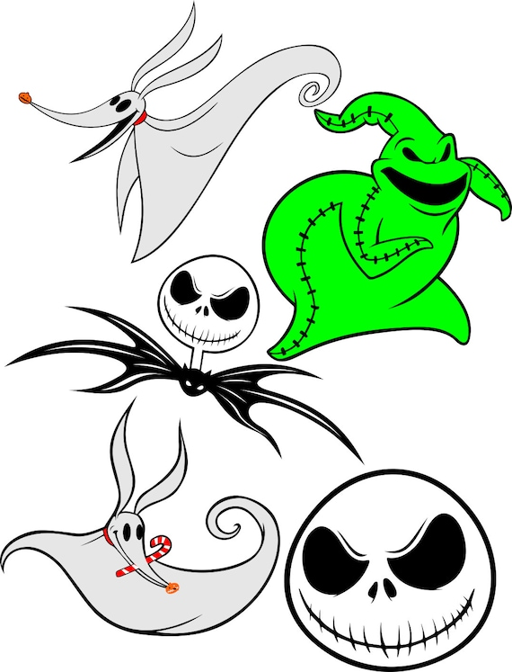 Jack Skellington Head Svg File Etsy