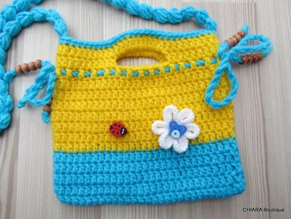 Kleine Geldbörse Mädchen Gehäkelte Handtasche Gehäkelt Häkeln Etsy