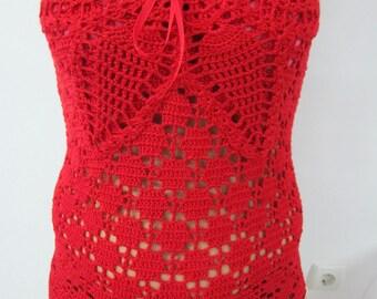 This crochet elegant strapless