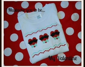Faux Smocked Valentine's Day Shirt Boy or Girl