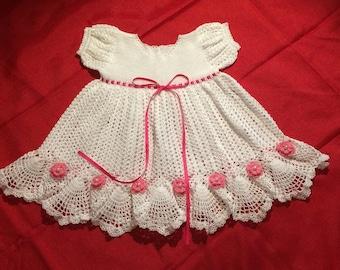 Häkeln Sie Häkeln Babykleid Taufkleid Taufe Eingestellt Etsy