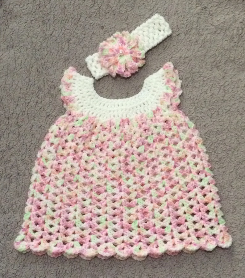 58e5a92a59b2 Crochet baby dress Crochet dress Baby girl dress Baby dress