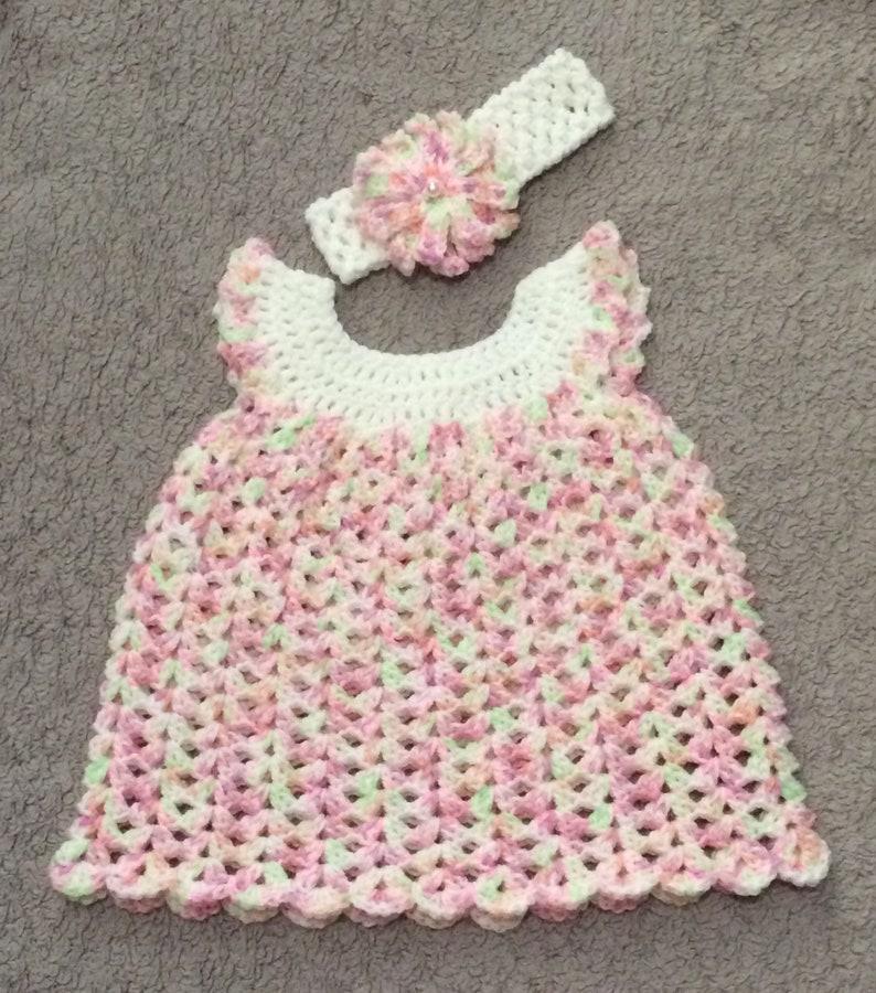 61b9557588d7 Crochet baby dress Crochet dress Baby girl dress Baby dress | Etsy