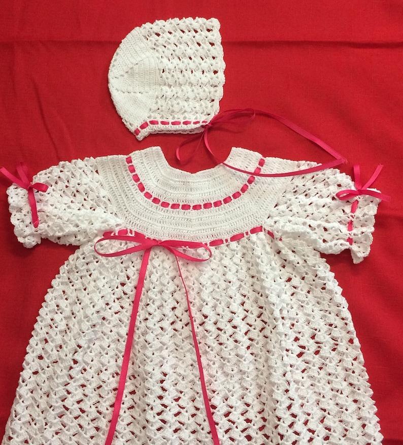 Christening dress crochet dress for newborn newborn baby christening set