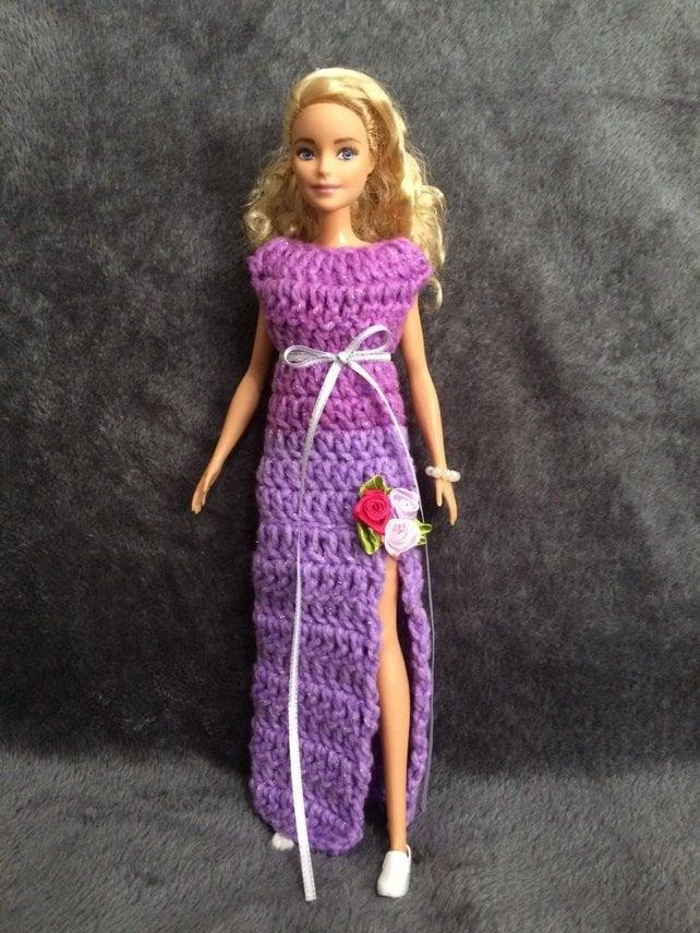 Barbie Doll Crochet Pattern Doll Dress To Crochet Etsy